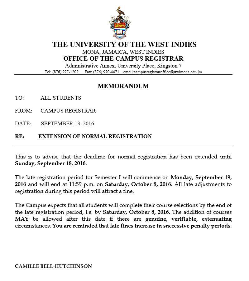 Registration Notice