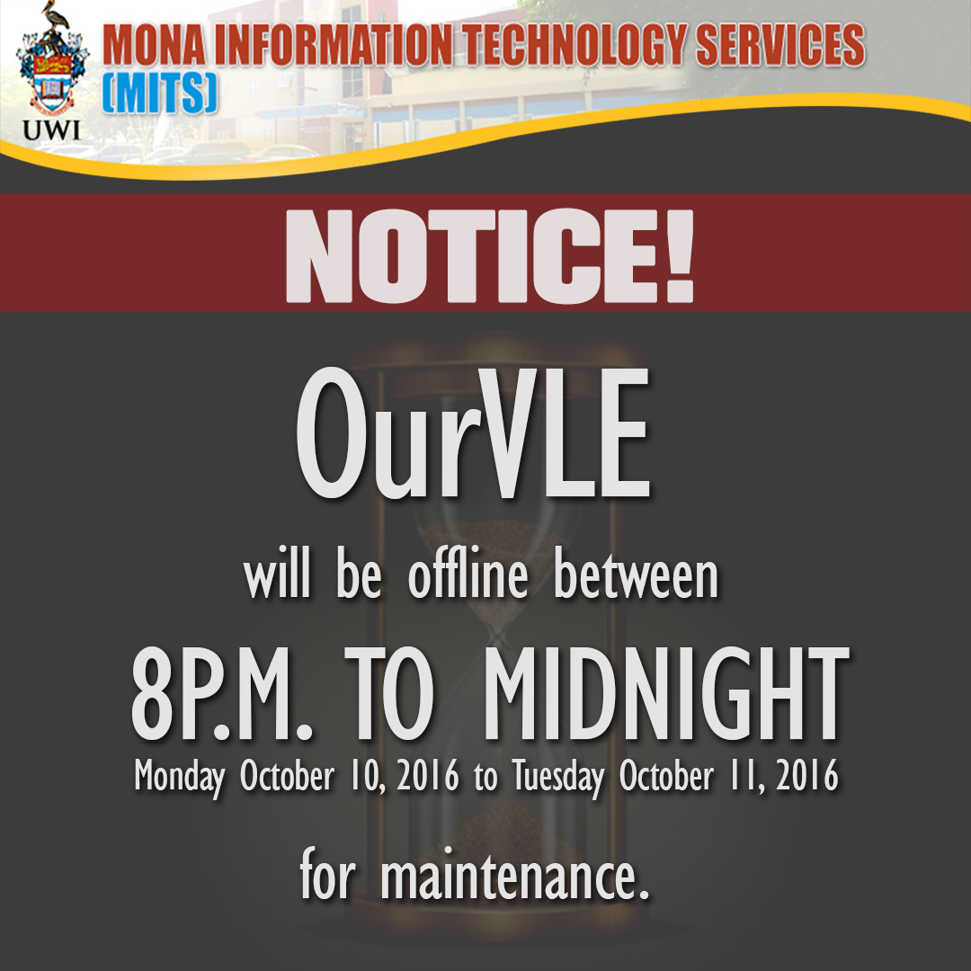OurVLE Maintenance - Oct 10